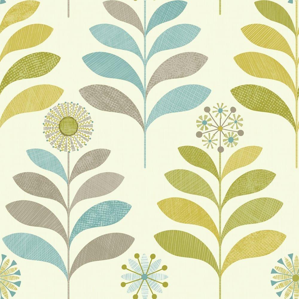 Arthouse Tamara Leaf Pattern Wallpaper Metallic Leaves