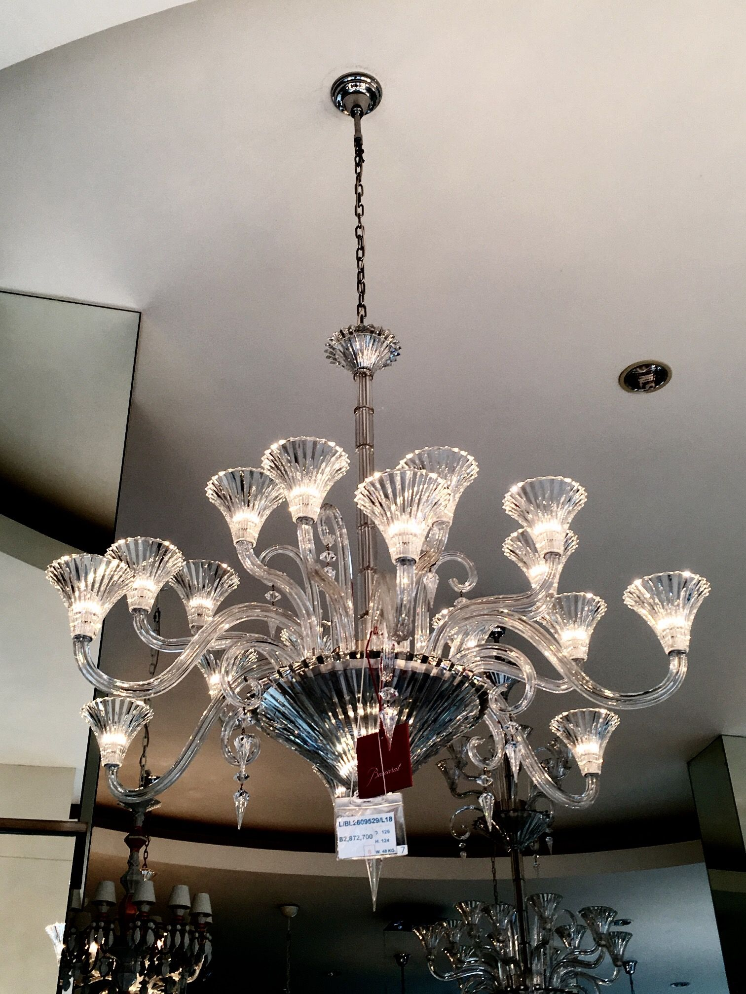 Baccarat crystal chandeliers Mille Nuits 18 lights | Baccarat ...