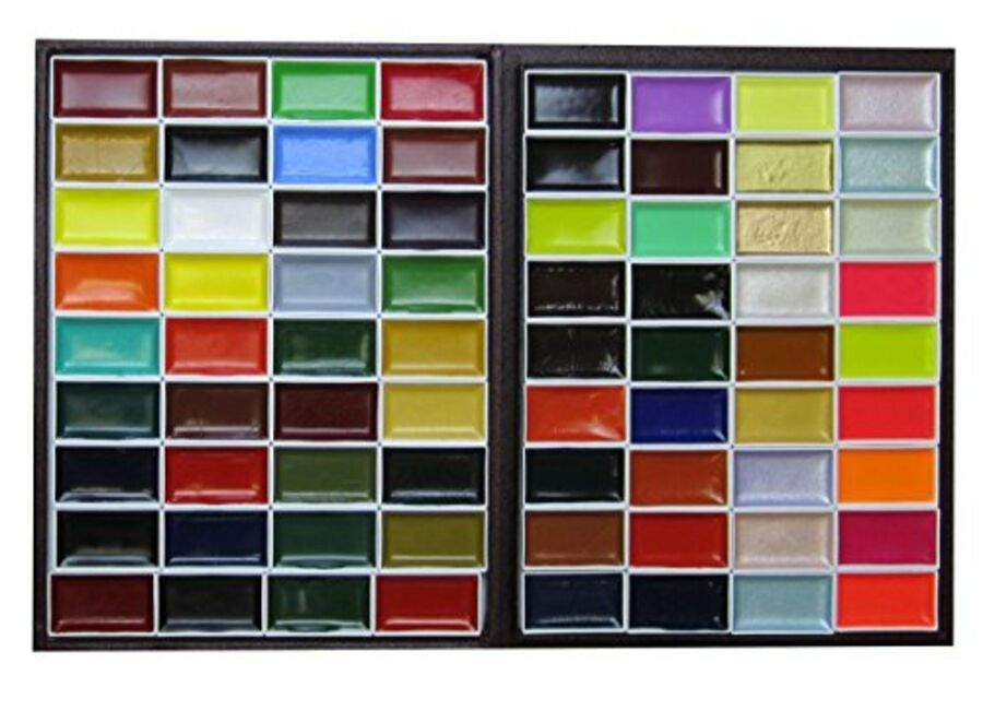 Kissho Gansai Japanese Watercolor Paint 72 Color Set F S New From