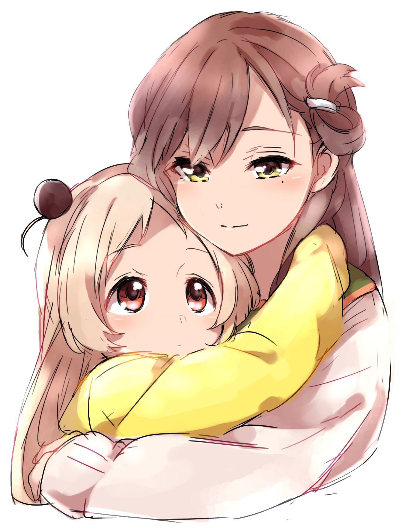 Anime mother and daughter