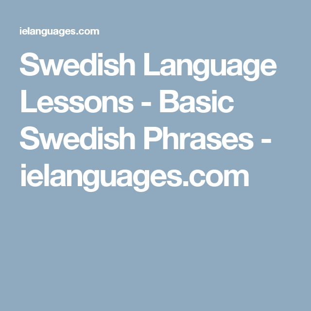 learn how to speak swedish online for free