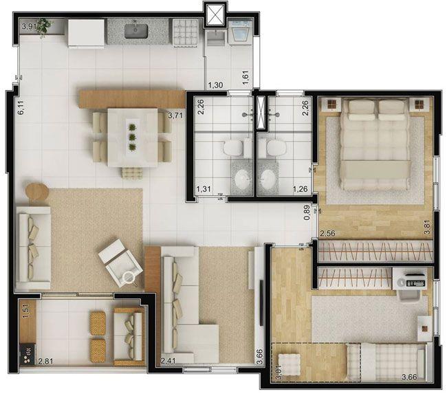 Plantas 70m2 Grande. The SimsSmall House PlansSmallest ...