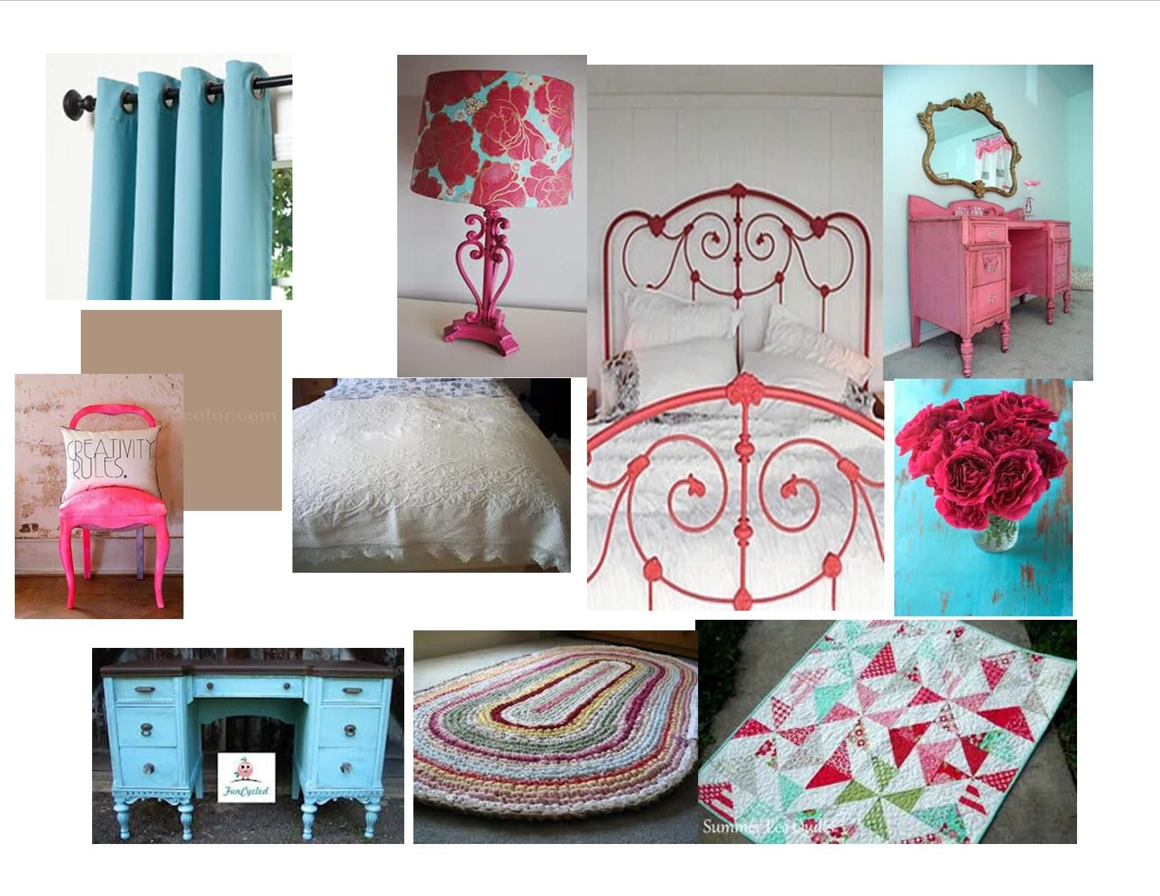 Aqua and pink master bedroom | Pink master bedroom ...