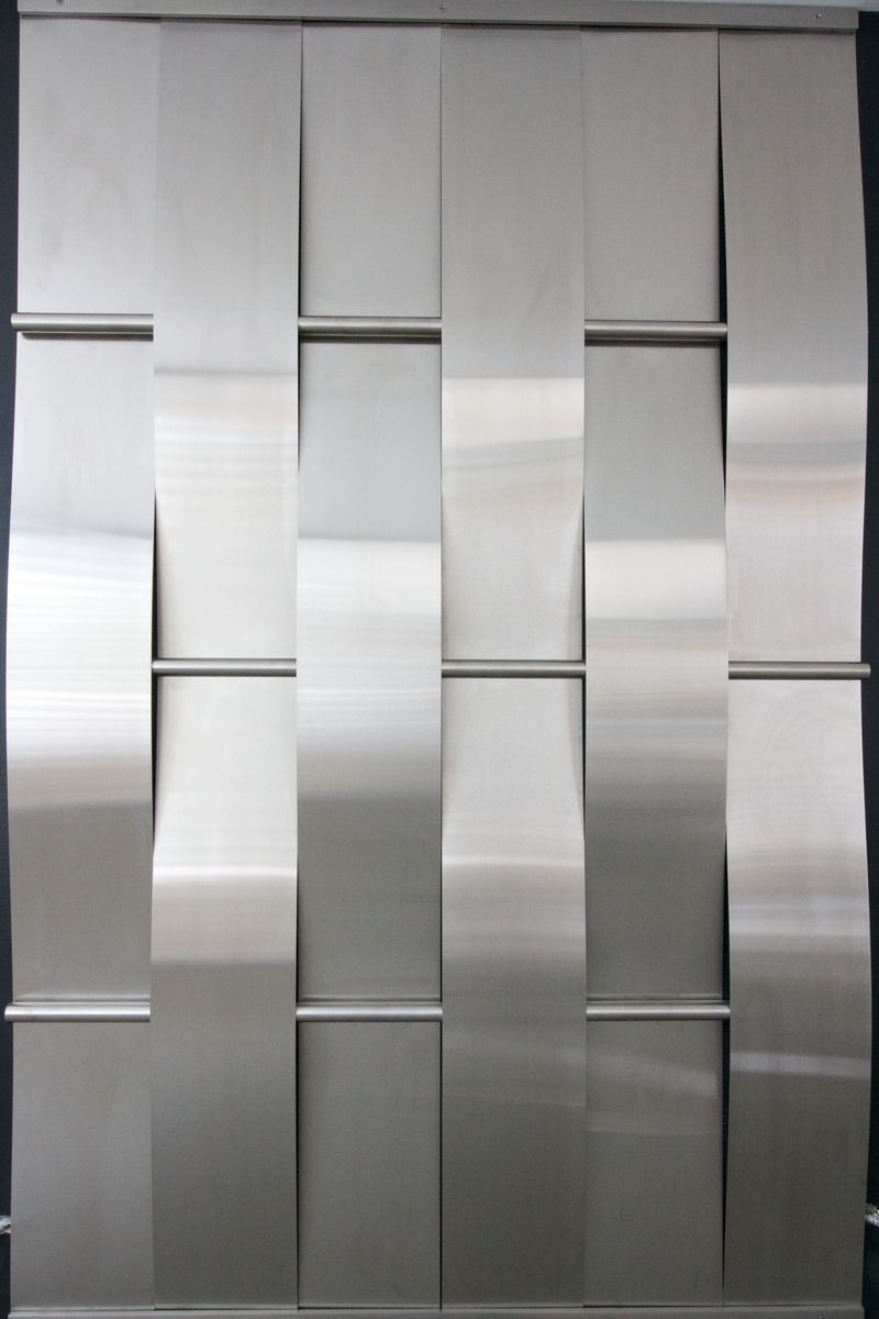 Woven stainless steel wall metal pinterest stainless steel steel and walls - Woven wood wall panels ...