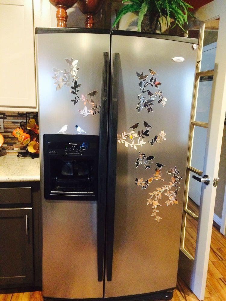 Dented refrigerator fix fridge decor old refrigerator