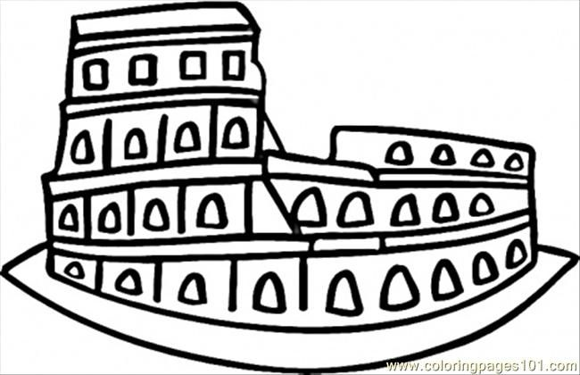 Colosseum Coloring Pages For Kids Coloring Pages Italy
