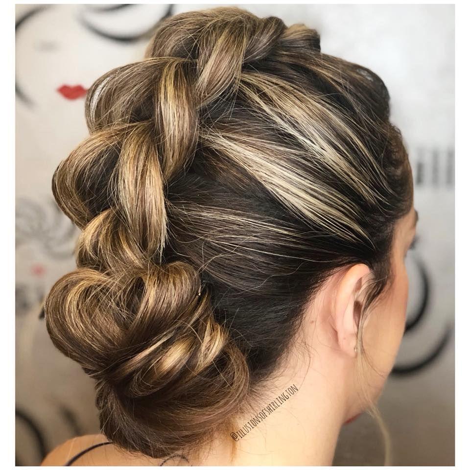 Beautiful braided mohawk updo by kayla braided updo updo style