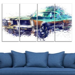 Pure American Muscle Large Gallery Wrapped Canvas
