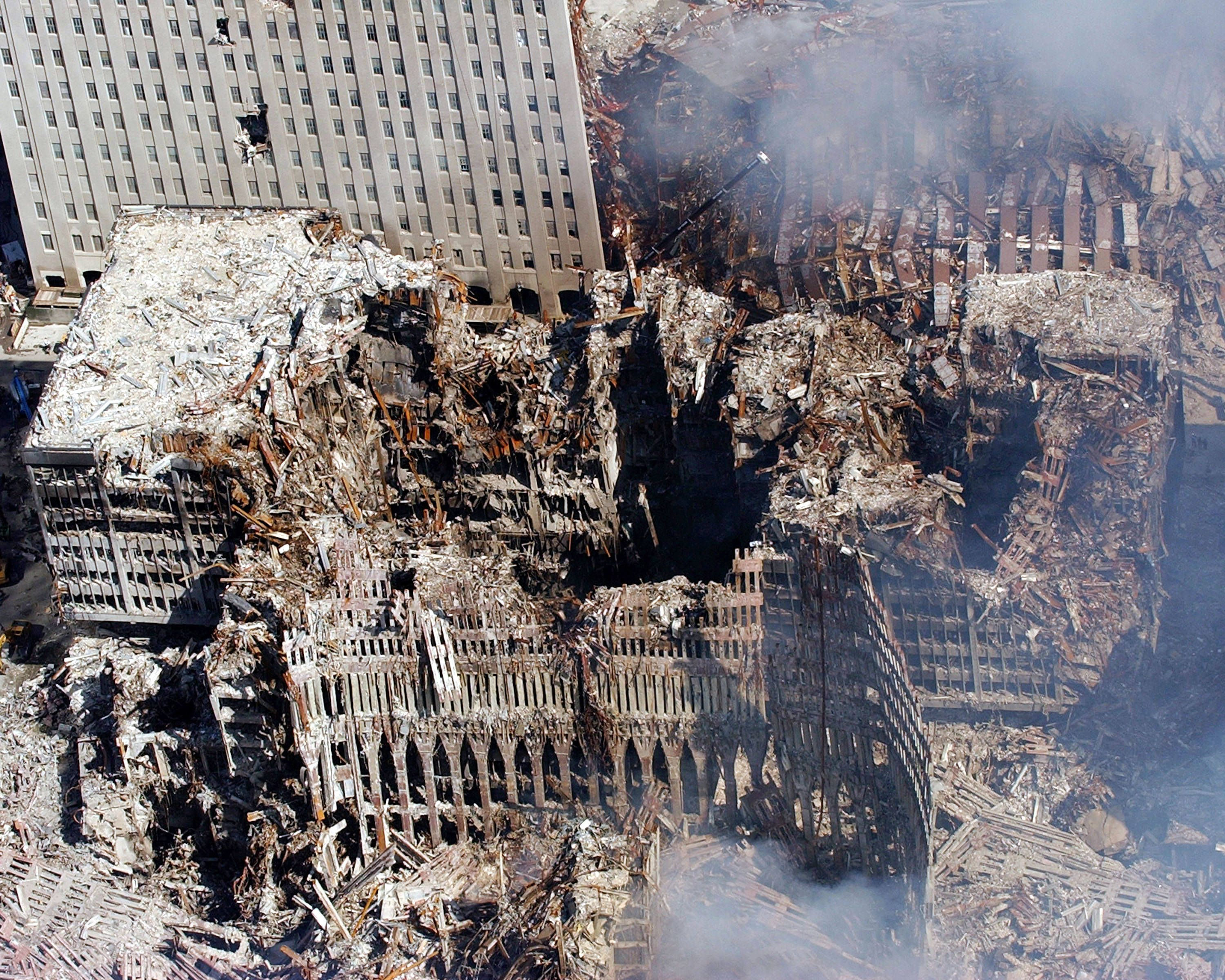 best images about flight  five days after the terrorist attacks ruins of the new york world trade center