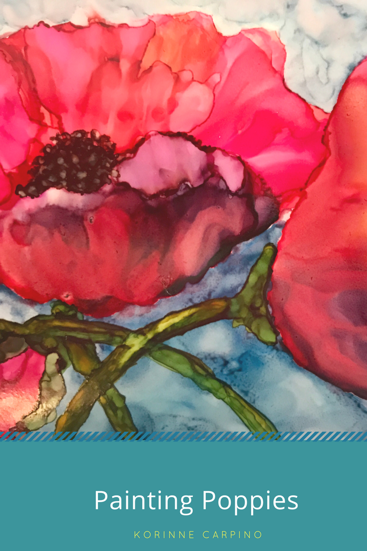 Painting Poppies with Alcohol Ink - Korinne Carpino Art