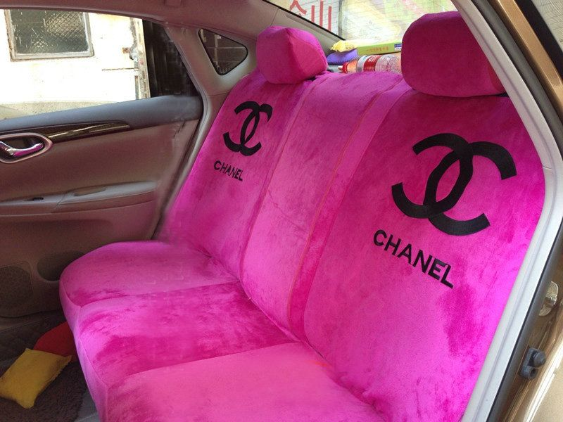 Buy Wholesale Classic Chanel Universal Plush Velvet Auto Car Seat Cover 10pcs Sets Pink F Pink Car Accessories Girly Car Accessories Car Interior Accessories