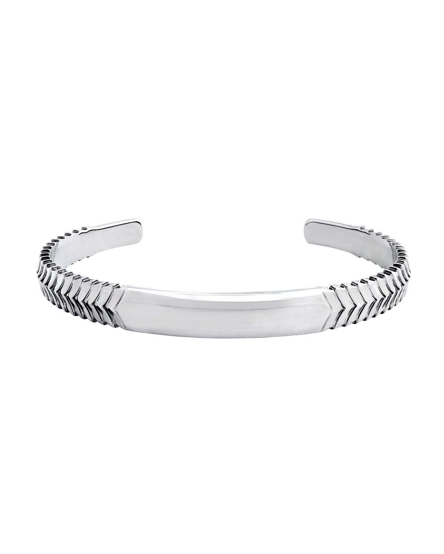 Menus chevron cuff bracelet silver 珠寶系列銀金飾簡潔