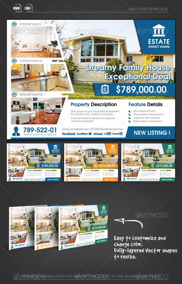 Real Estate Business Flyer  Real Estate Business Business Flyers