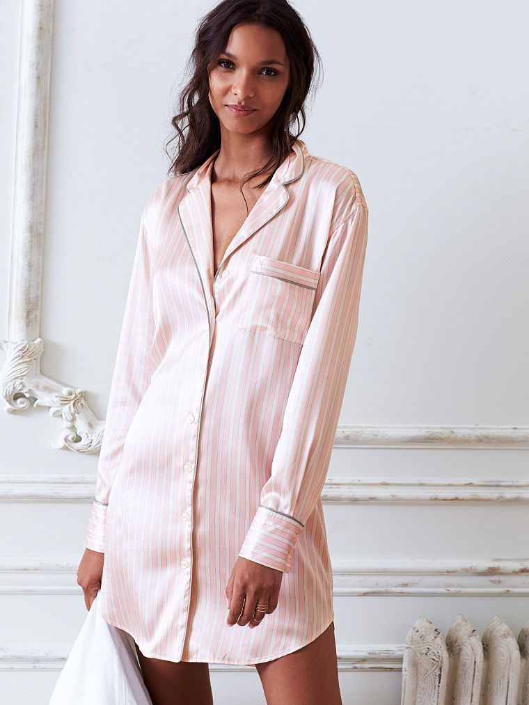 ee0b69890c8 Afterhours Satin Sleepshirt - Victoria s Secret
