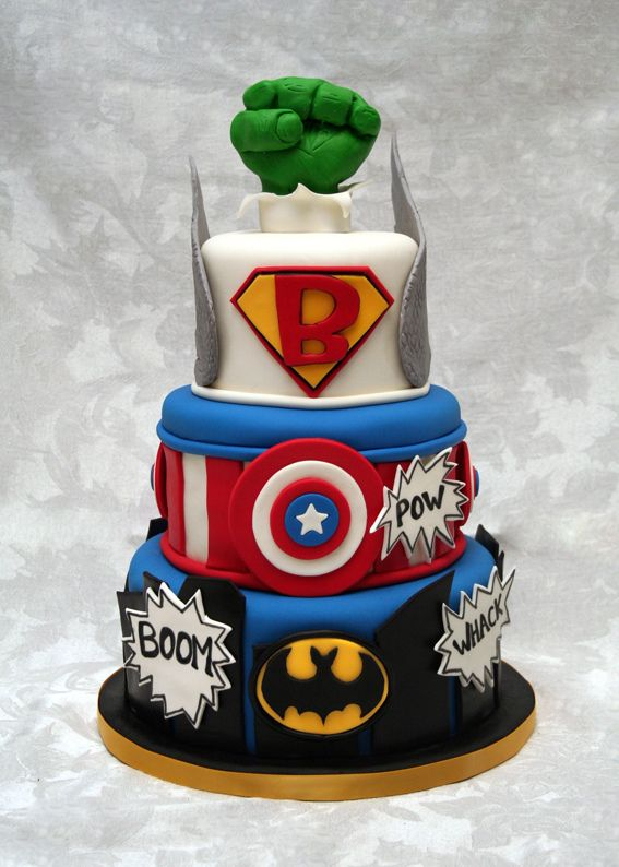 Superhero Outrageous Cakes Pinterest Superhero Cake Cake