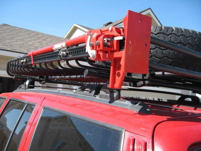 Homemade Hi Lift Jack Mount For Yakima Roof Rack Jeepforum Com Hi Lift Jack Mount Roof Rack Yakima