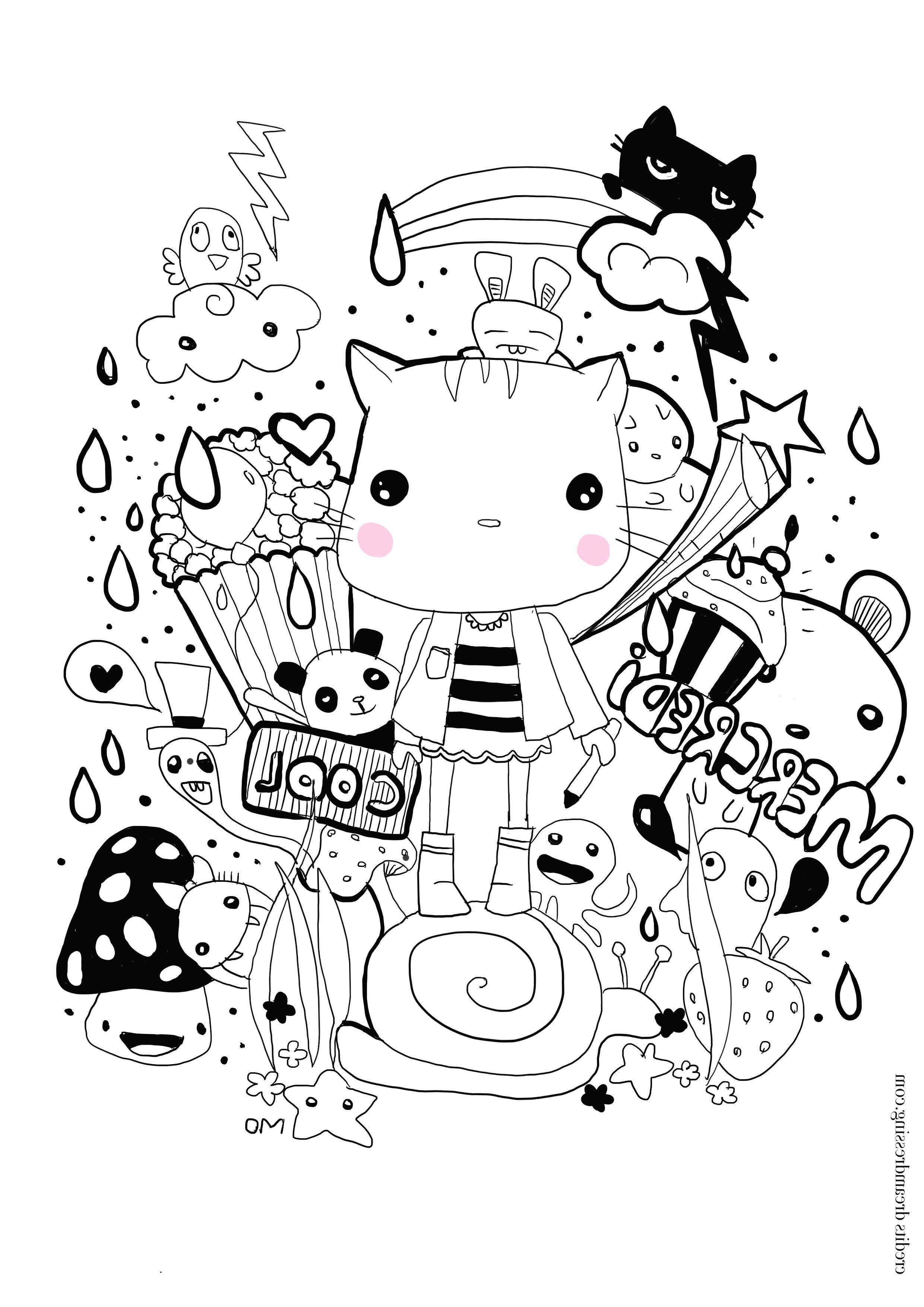 Dessin Kawaii A Imprimer : dessin, kawaii, imprimer, Coloriage, Dessin