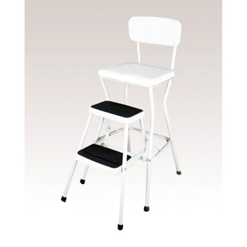 Superb Cosco Chair Step Stool With Slide Out Steps 11118Whte Machost Co Dining Chair Design Ideas Machostcouk