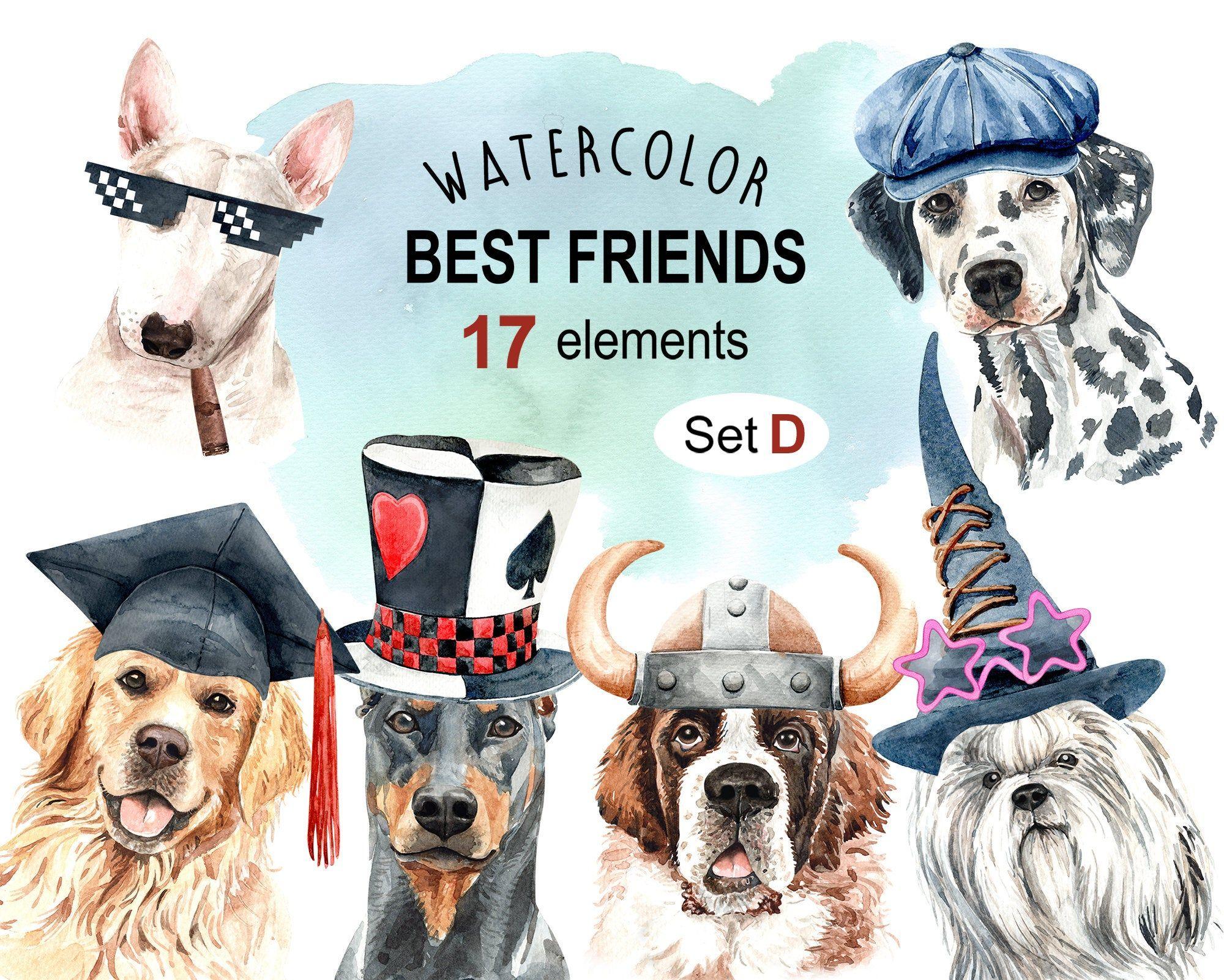 Dog Watercolor Clipart Pet Clip Arts Dog Cliparts Dog Png