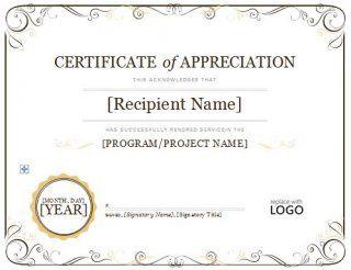 Download certificate of appreciation 08 letter sample download certificate of appreciation 08 yadclub Images