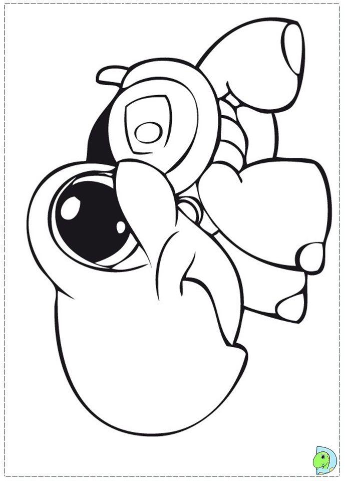 littlest pet shop coloring page dinokids - Littlest Pet Shop Coloring Pages
