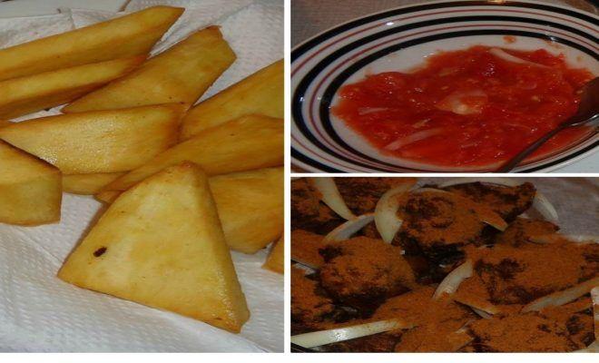 how to make fried yam with fresh pepper sauce ghfood teamghana ghanafood