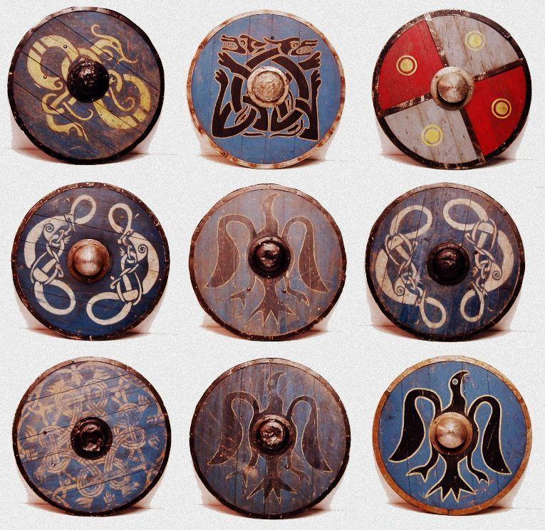 b17ff729d98d9 Viking Shields, scandinavian symbols | Viking | Viking shield ...