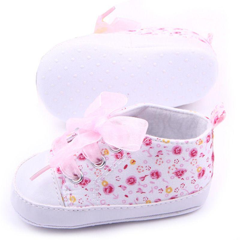8dde9fdee1051 Encontrar Más Primeros Pasos Información acerca de Zapatos de bebé niñas de  algodón de flores suaves
