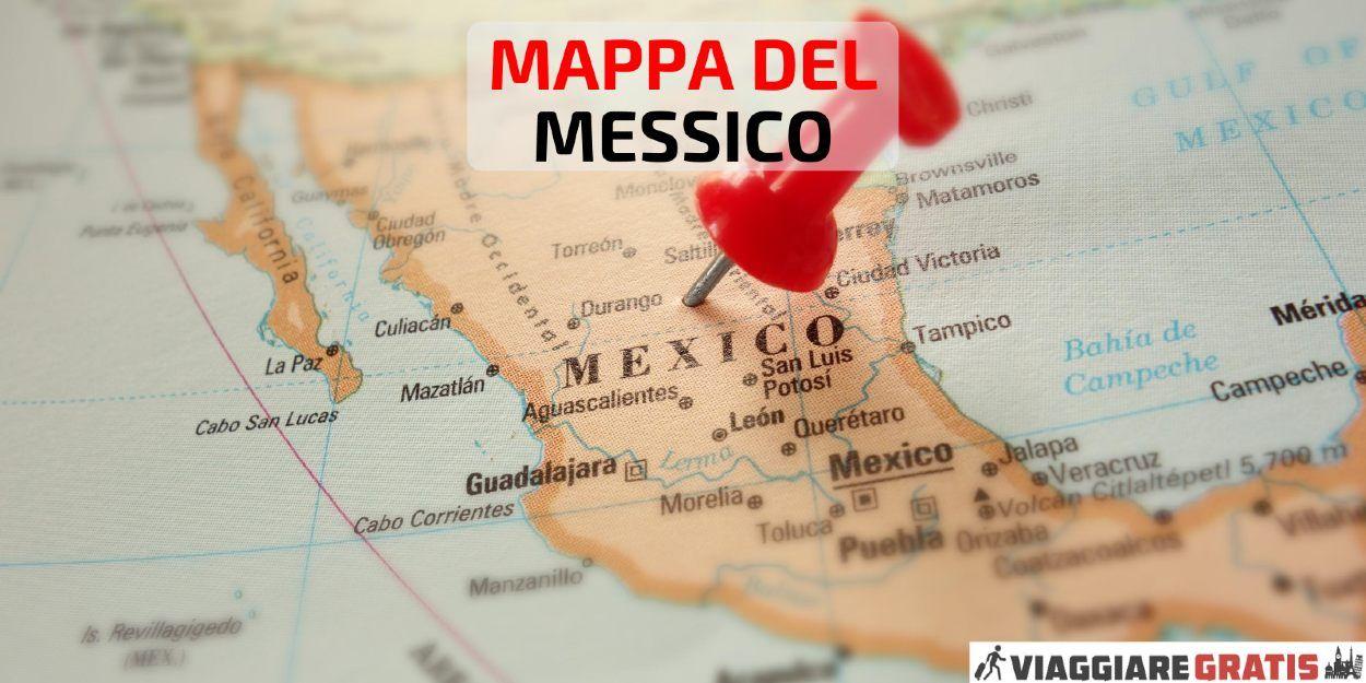 Cartina Del Messico Politica.Mappa Del Messico Cartine Dettagliate Del Messico Messico Cartina Messico Guida Di Viaggio Mappa