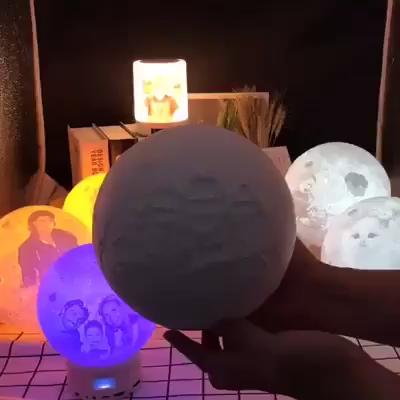 Personalisierte Mondlampe Verbindet Paare Erstelle Deine Eigene Mondlampe Video Mond Lampe Gute Geschenke Geschenke