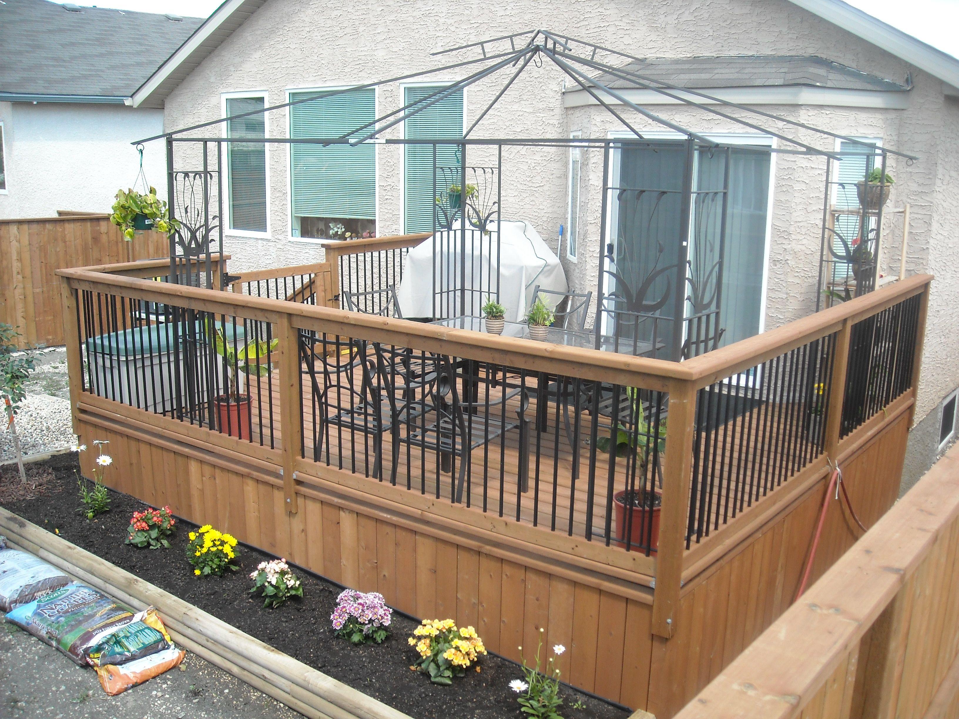 no end caps! deck railing   Deck railings, Deck, Deck design