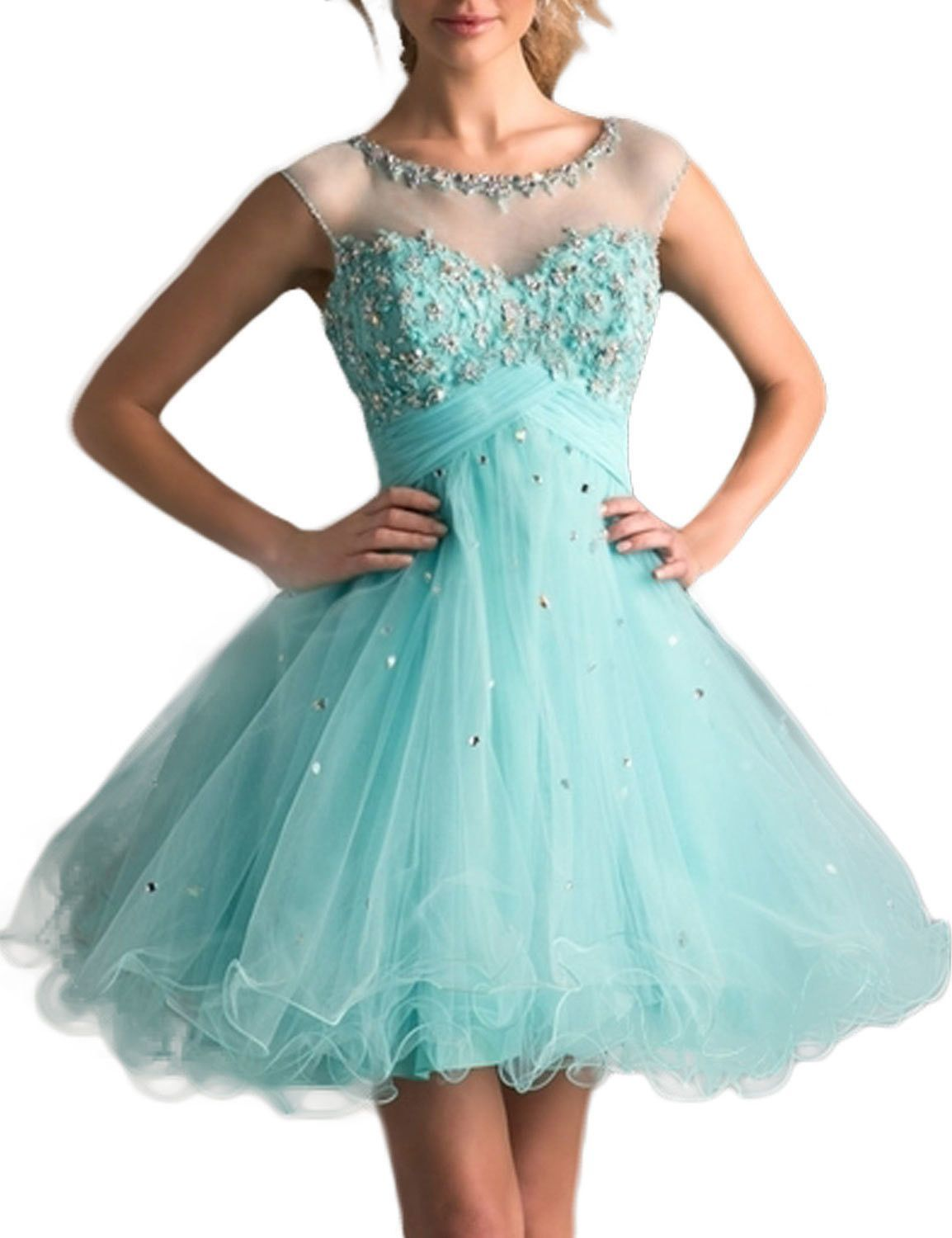 2017 Homecoming Dresses A Line Scoop Short/Mini With Beading&Sequins ...