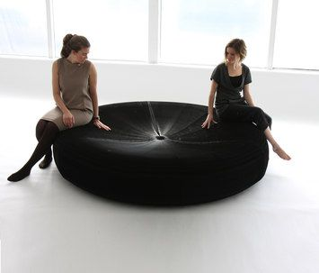 softseating  black paper lounger-molo-Stephanie Forsythe-Todd MacAllen