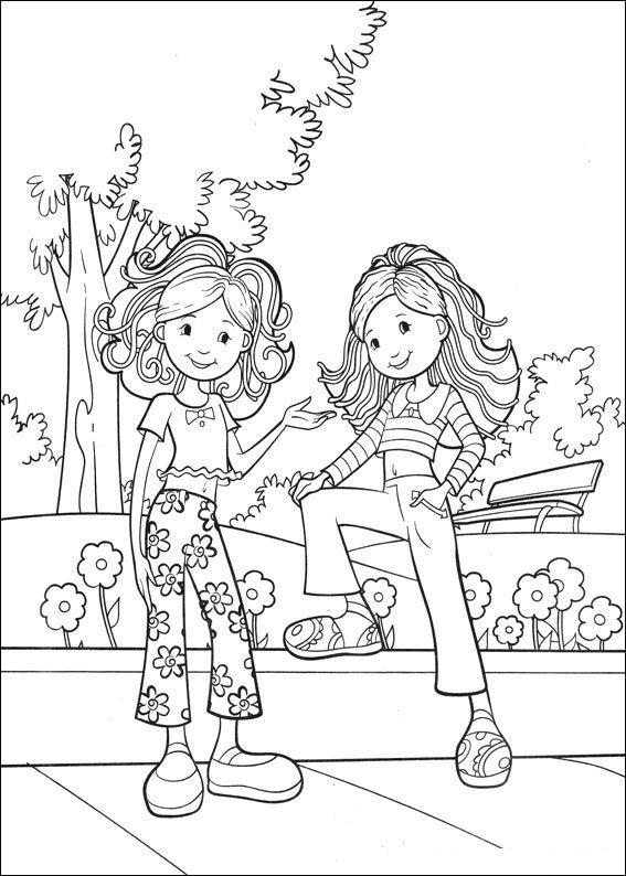 kleurplaat Groovy Girls Kids-n-Fun | Art | Pinterest | Girls, Adult ...