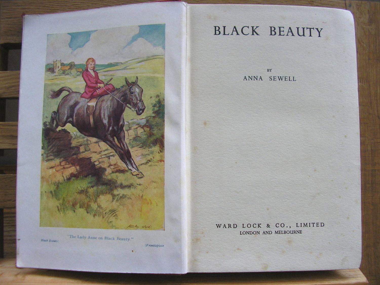 Colour childrens literature - Vintage Book Children S Classic Black Beauty Anna Sewell Horse Pony Adventure Classic Children S Literature Colour Plate