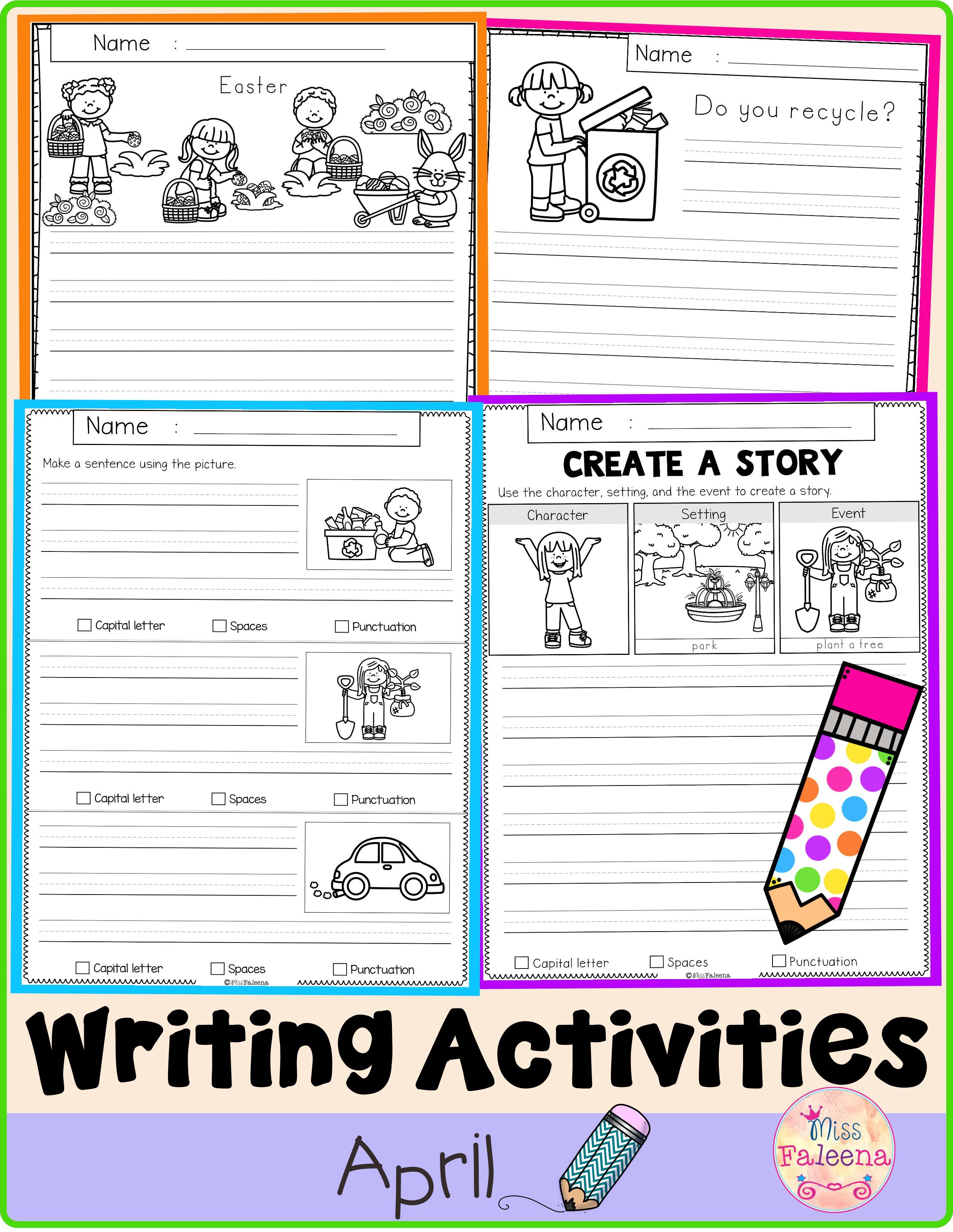 April Writing Activities In With Images