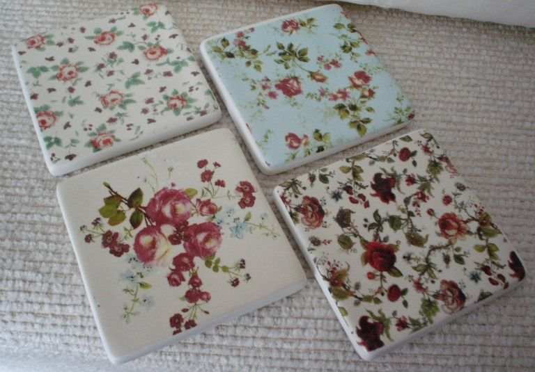 floral coasters would look great in your dining room or on your coffee table