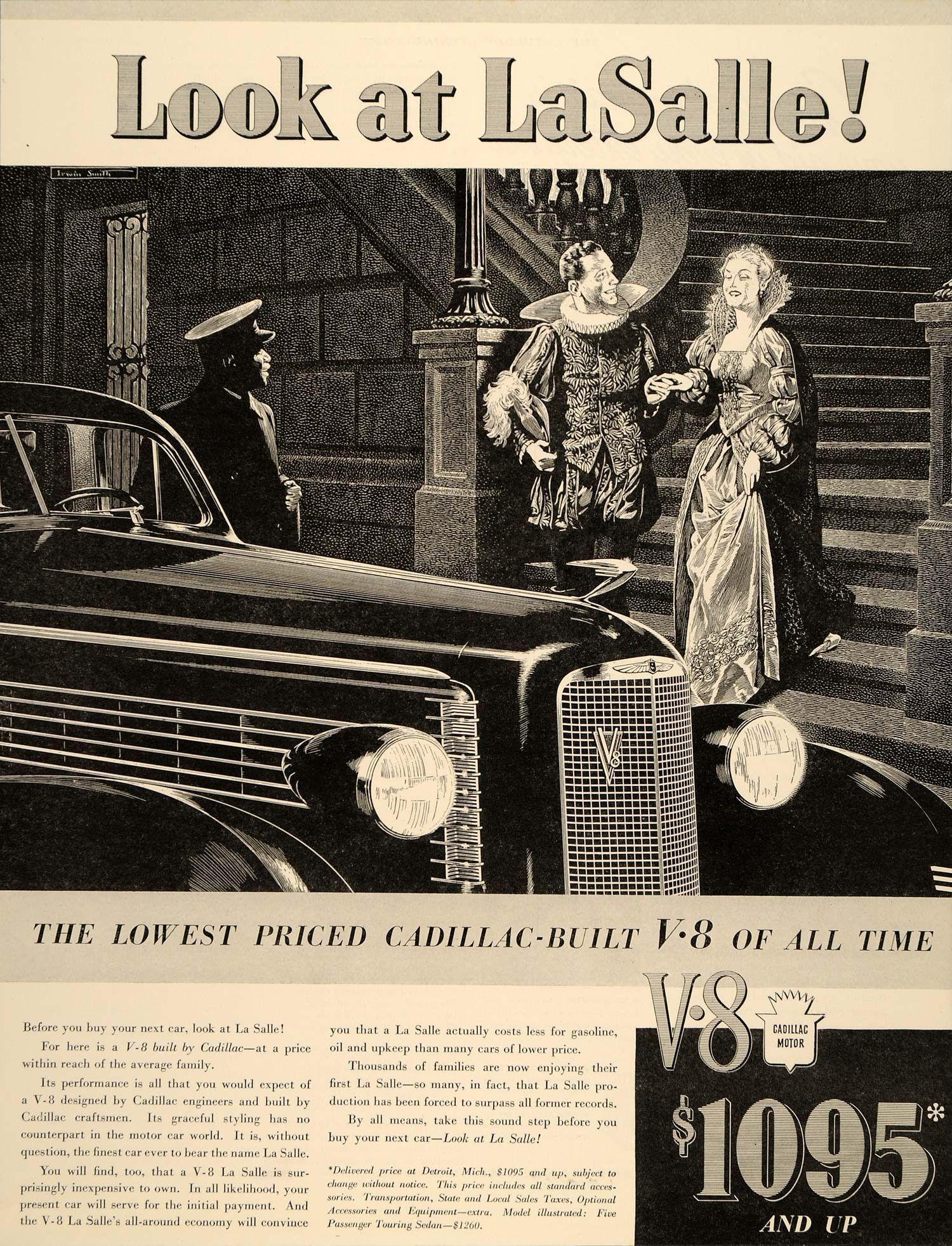 1937 Ad Antique Cadillac La Salle V8 Pricing Royalty - ORIGINAL ...
