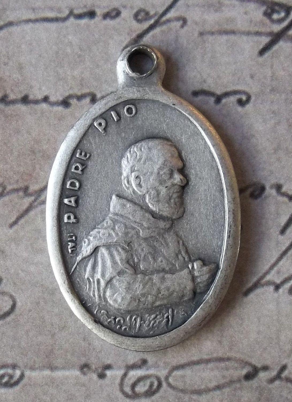 Italian Holy Medal Padre Pio Of Pietrelcina Pray For Us