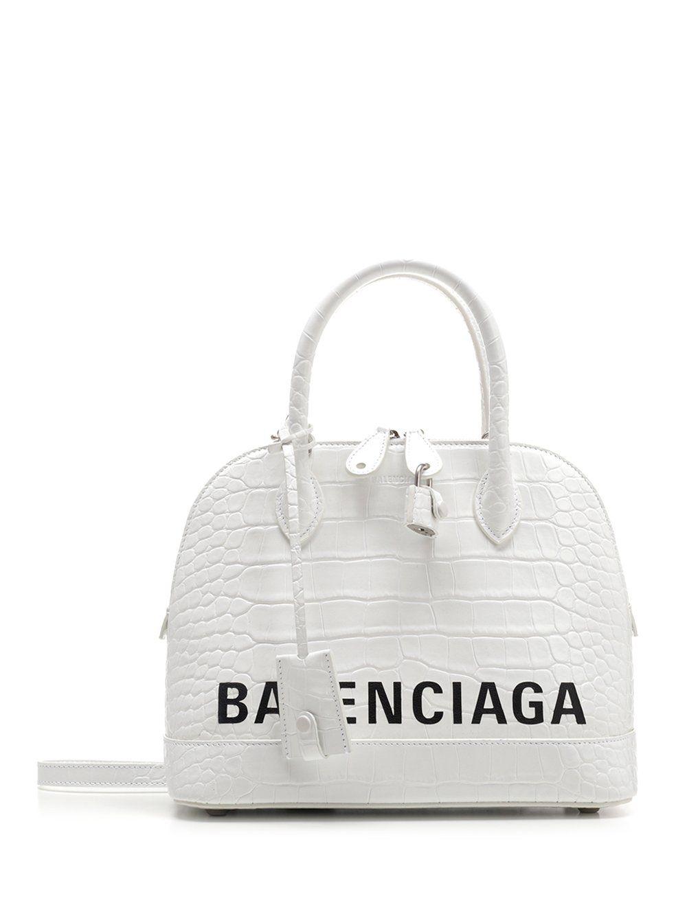 BALENCIAGA BALENCIAGA VILLE EMBOSSED LOGO TOTE BAG bags bags