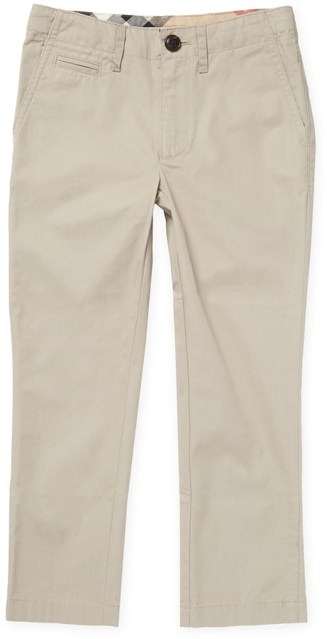 Burberry Woven Cotton Trousers