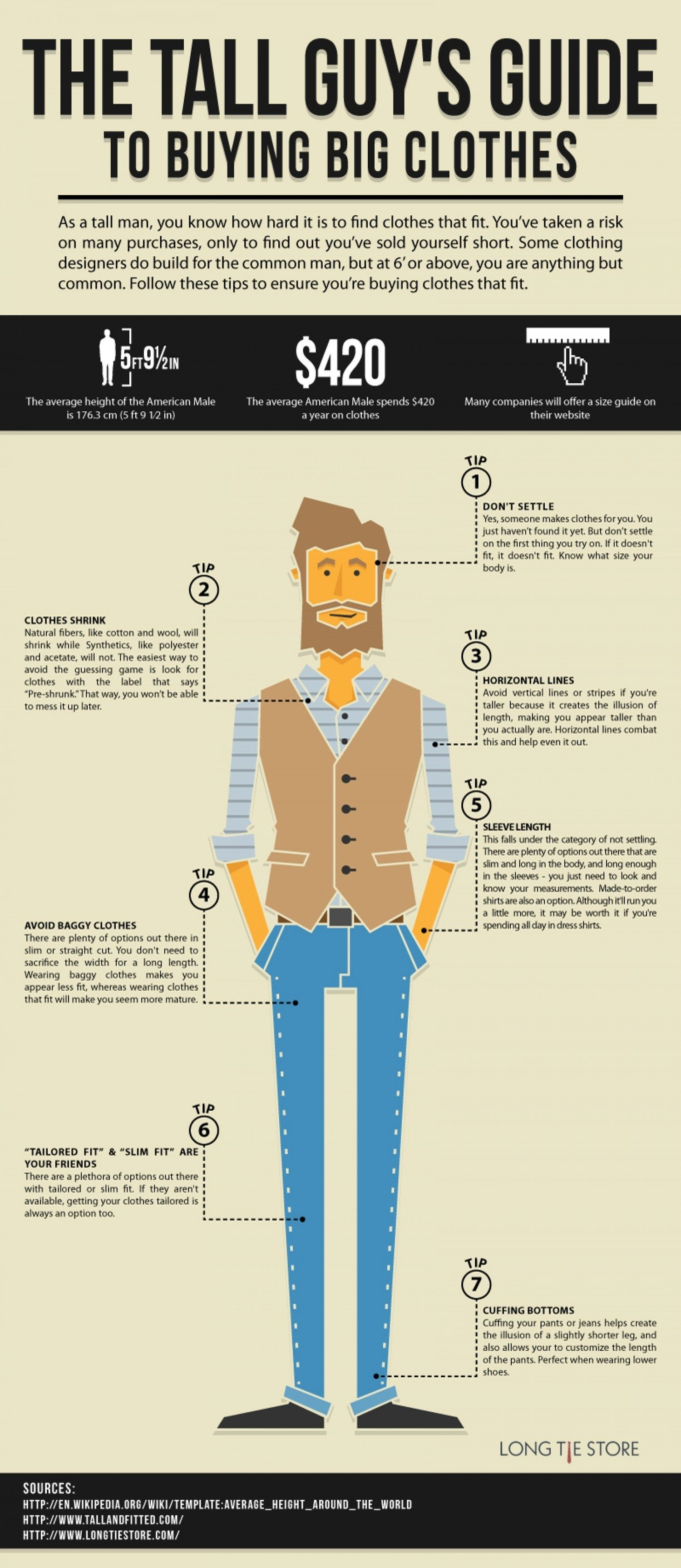 a379625aafaad2 How to dress if you re a tall man