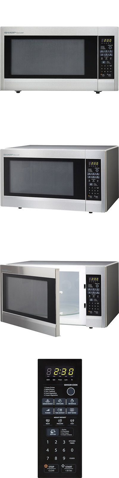 Microwave Ovens 150140 Sharp R651zs Carousel Countertop Oven 2 Cu Ft 1200w Stainless Ste It Now Only 232 72 On Ebay