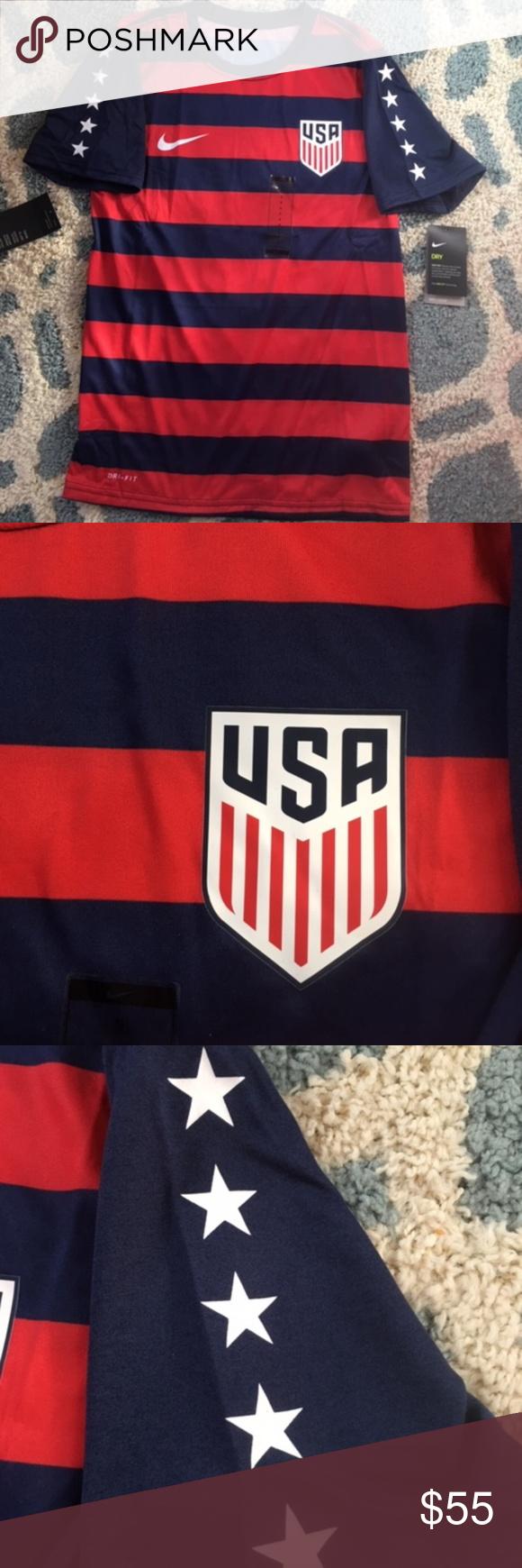 premium selection f8362 dcd28 Mens Nike USA Soccer Shirt USMNT Gold Cup 2017 Med NEW Mens ...