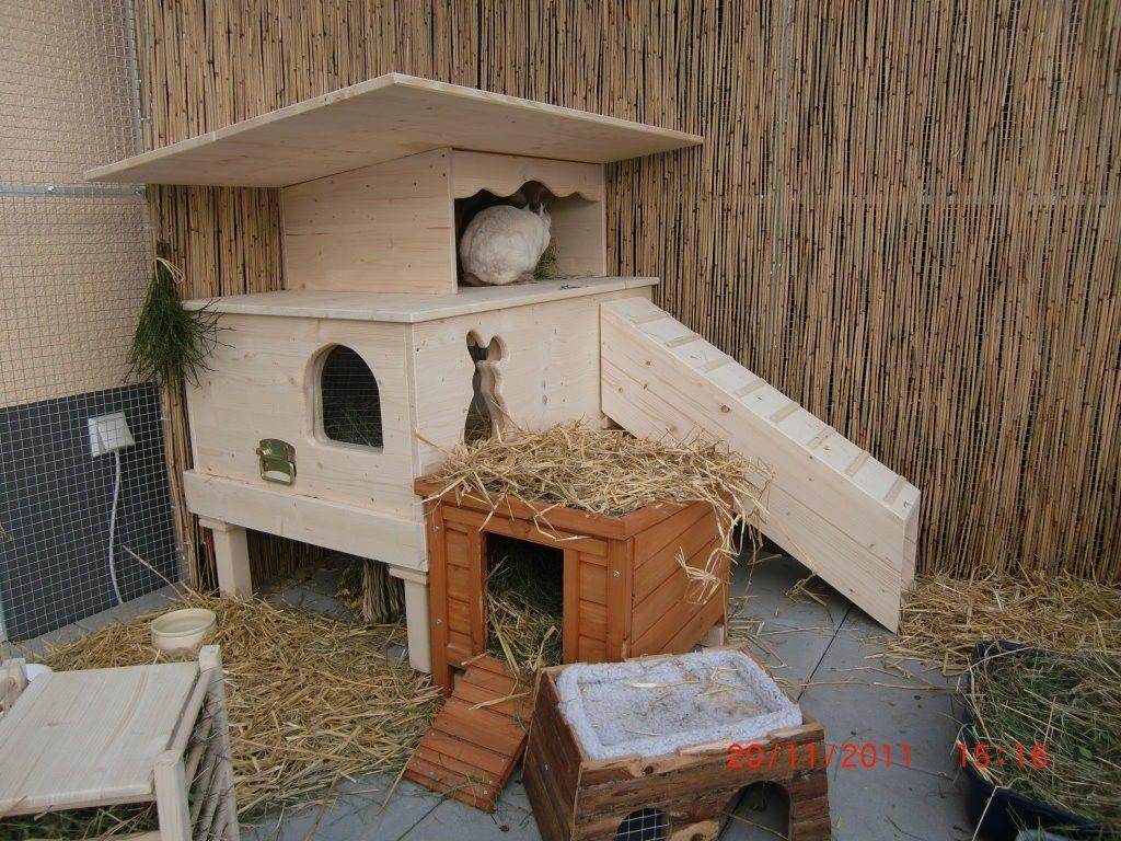 Schutzhutte De Luxe Pluschnasen Kaninchen Kaninchenhaus Kaninchengehege