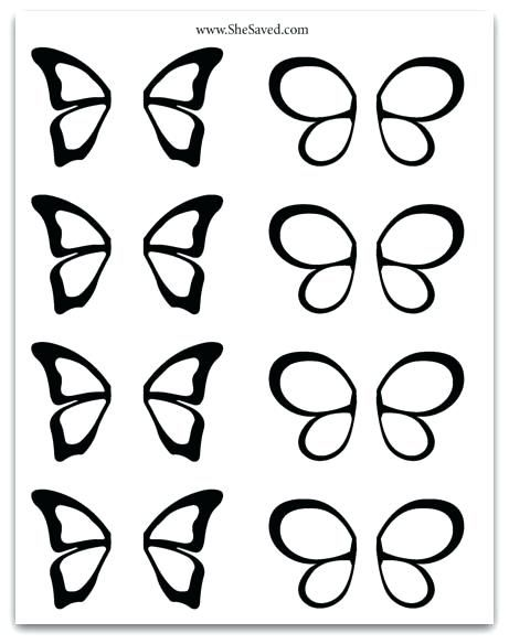 Print Out This Free Chocolate Butterfly Pattern To Make