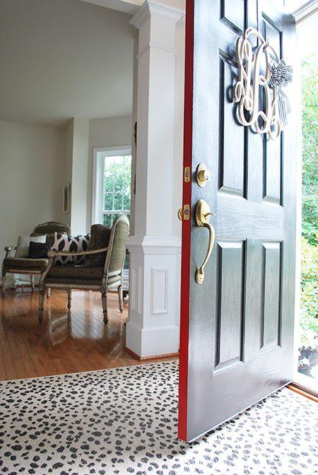 Front Door Makeover With Modern Masters Front Door Paint 11 Magnolia Lane Painted Front Doors Painted Doors Front Door Makeover