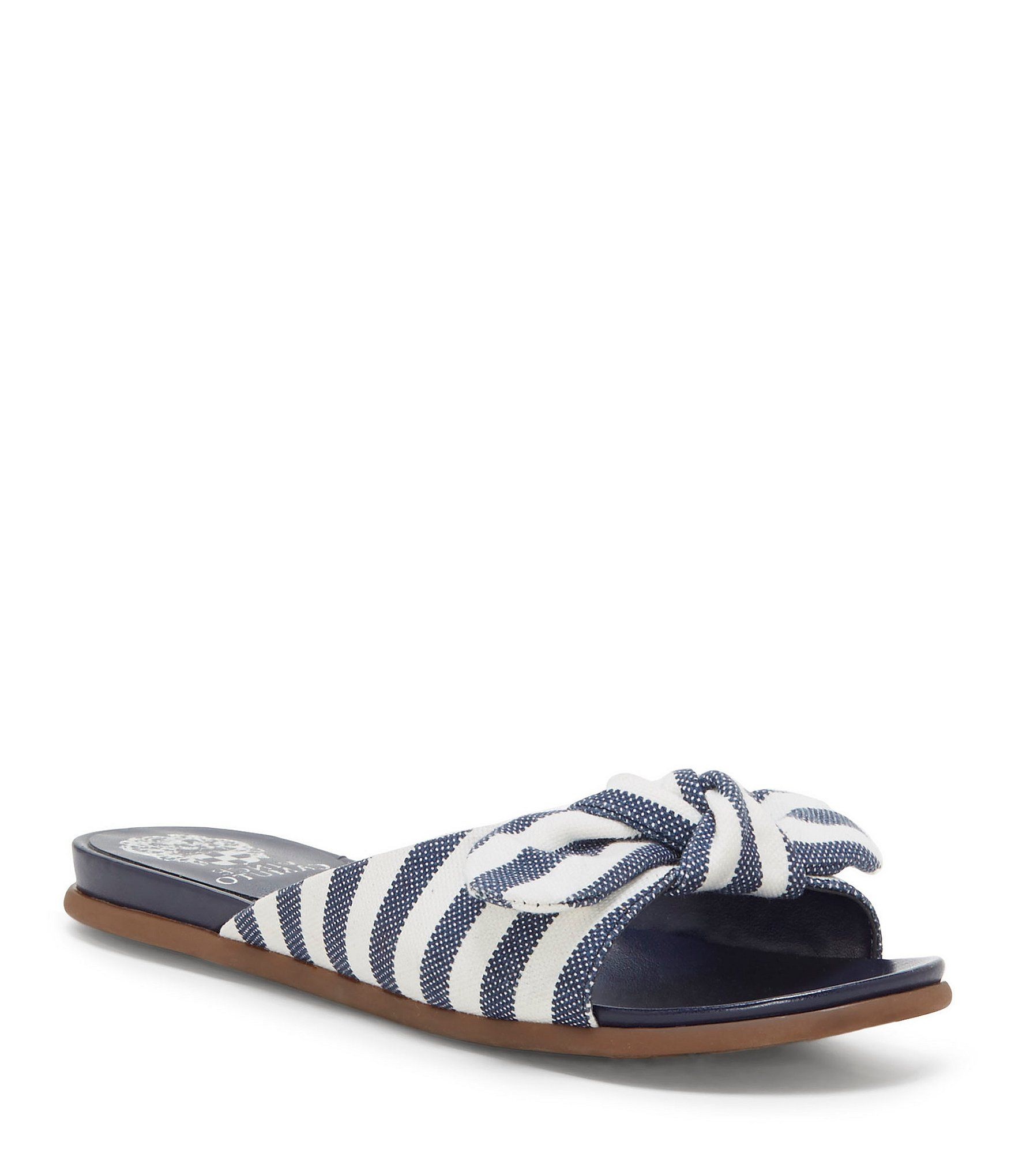 Ejella Stripe Knot Bow Detail Sandals