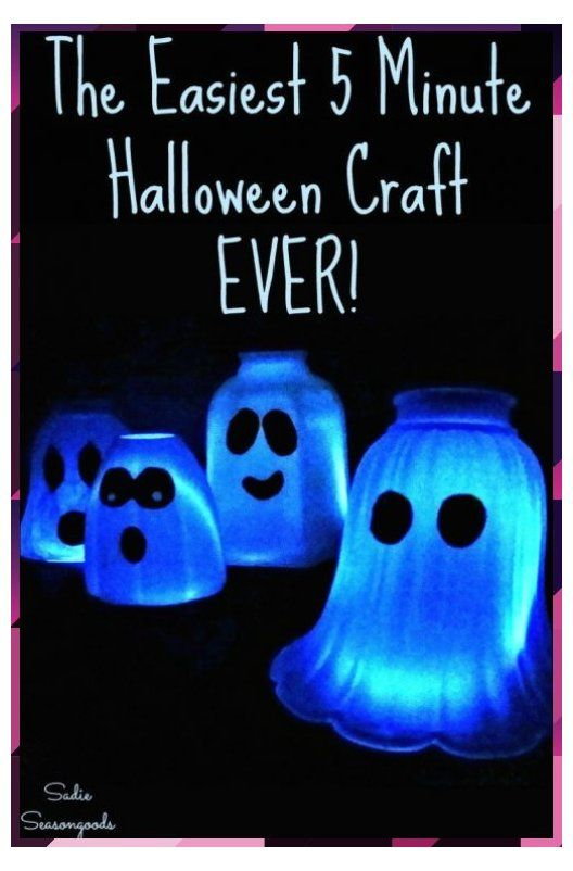 Ghost Light from Glass Light Covers is the Easiest Halloween Craft Idea! #5 minute crafts #Covers #craft #halloweencrafts