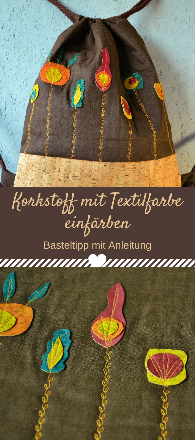 IZINK Textilfarbe: Korkstoff einfärben   Basteltipps, Textilfarbe ...